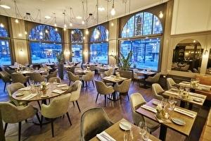 Amrâth Grand Hotel de l'Empereur geeft restaurant hippe moderne make-over die aansluit bij uitstraling van het vernieuwde stationsplein.